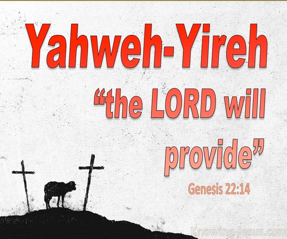 Genesis 22:14 The Lord Will Provide (red)