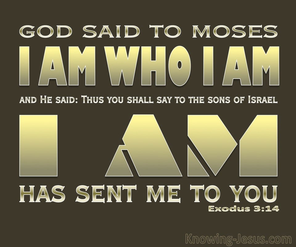 Exodus 3:14 God Said I AM That I AM (gold)