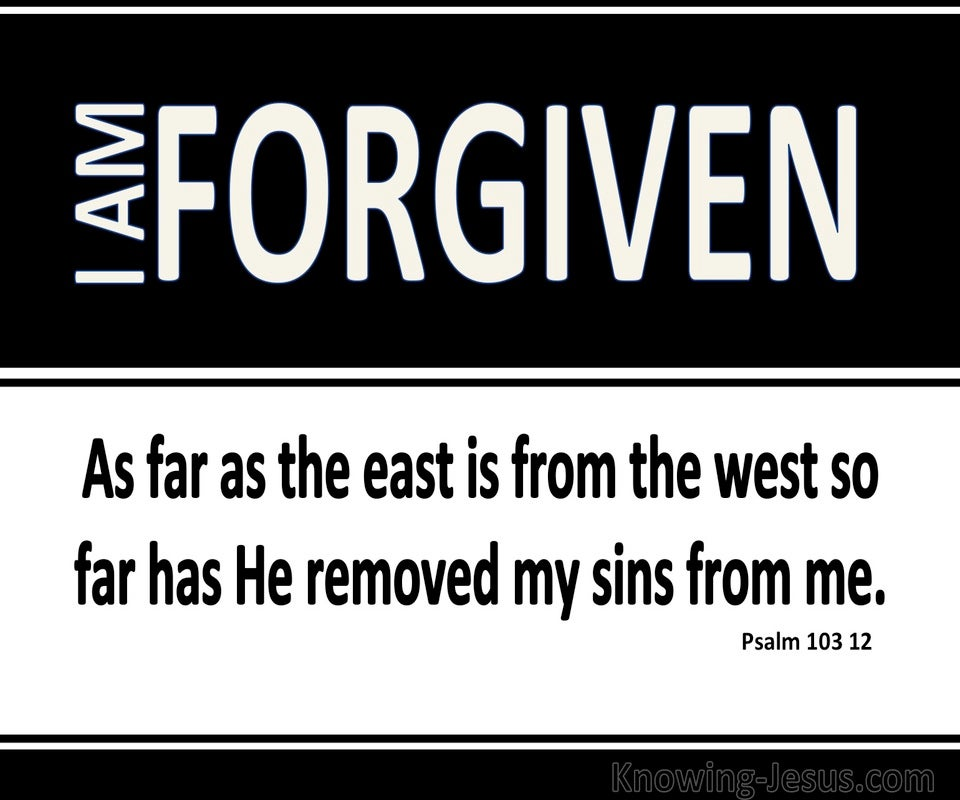 Psalm 103:12 As Far As The East Is From The West (black)