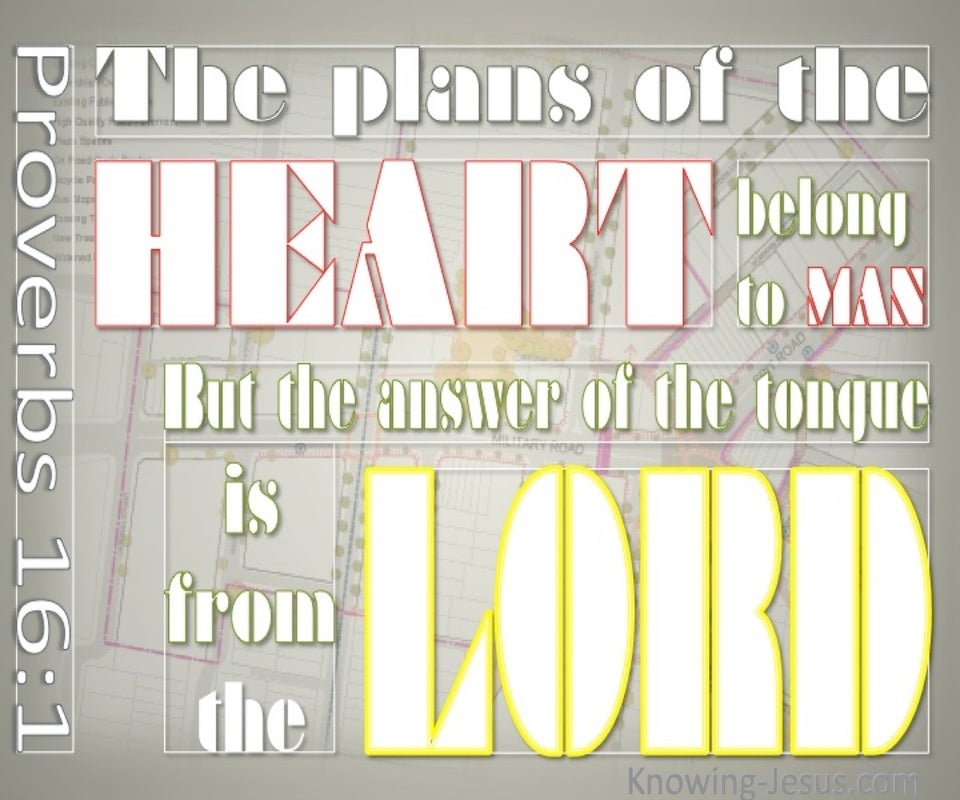 Proverbs 16:1 Answers Are From God (gray)
