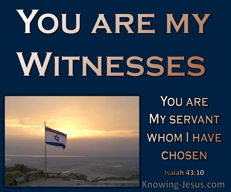 Isaiah 43:10 You Are My Witnesses My Sevants Who I Have Chosen (navy)