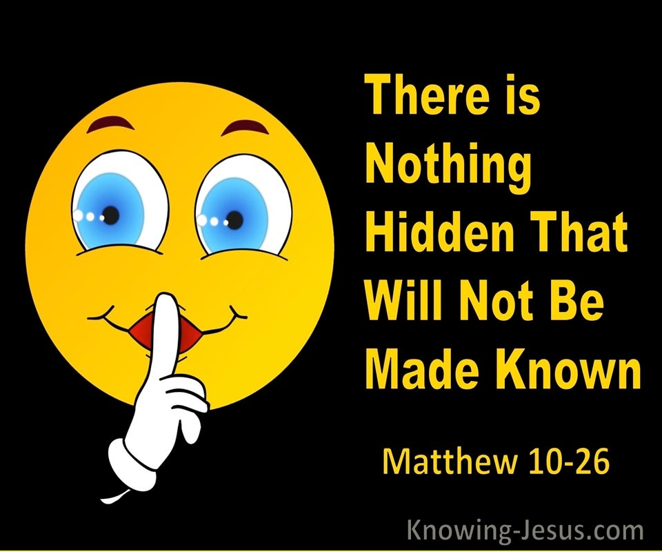 Matthew 10:26 Nothing Hidden That Will Not Be Made Known (orange)
