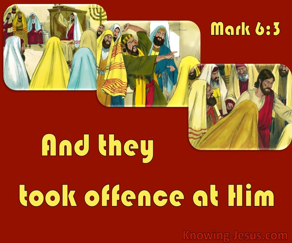 Mark 6:3 Jesus, The Carpenters Son (red)