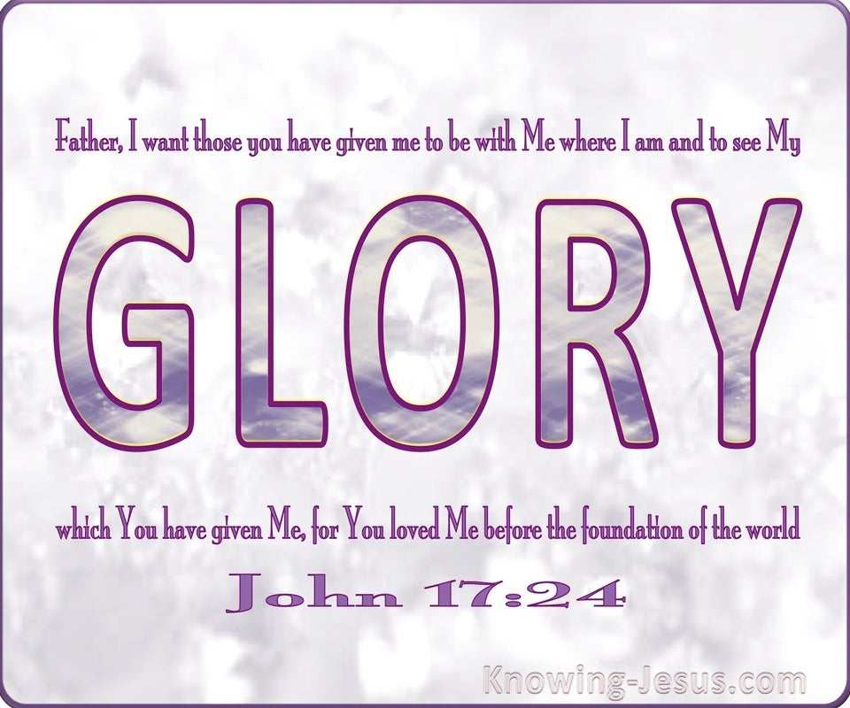 John 17:24 That They May See My Glory (pink)