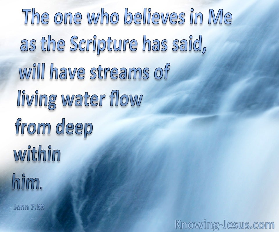 John 7:38  Streams Of Living Water Deep Within (blue)