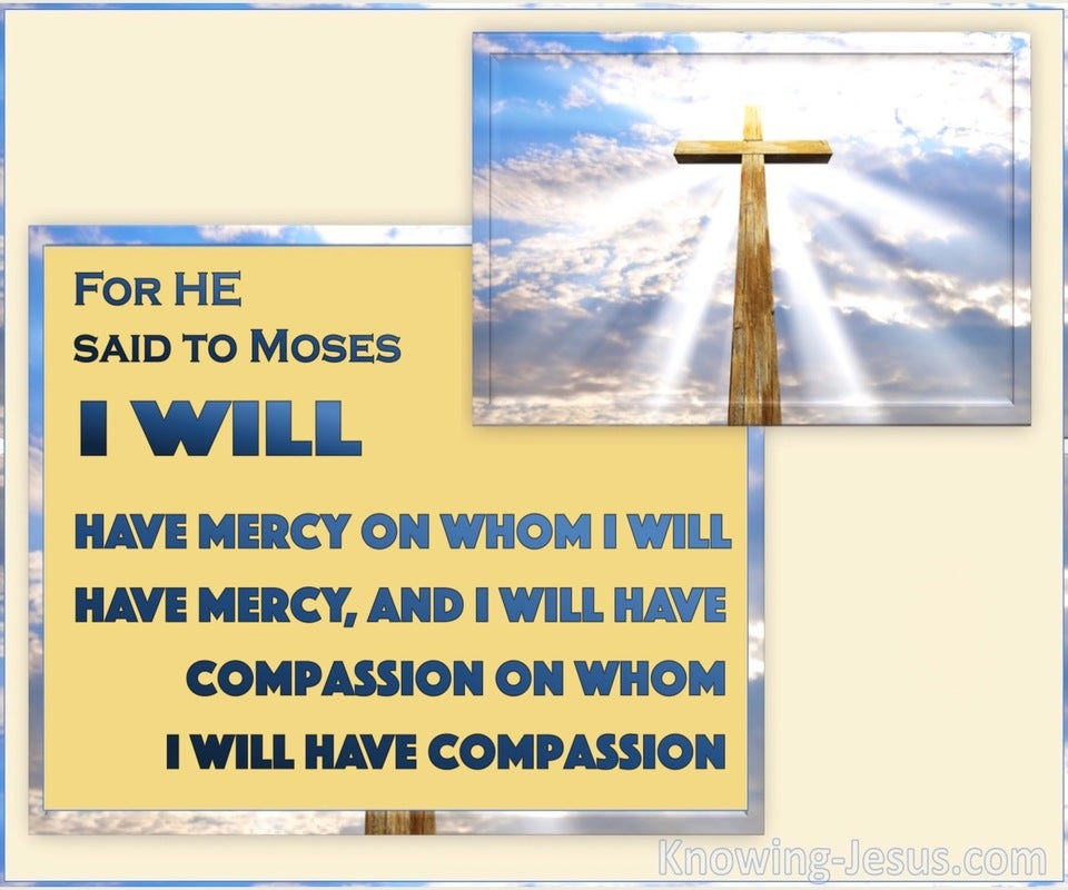 Romans 9:15 Mercy and Compassion (blue)