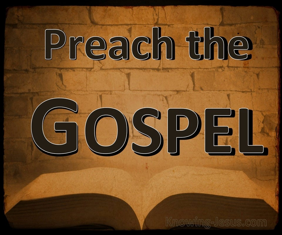 1 Corinthians 1:17 Preach The Gospel (brown)