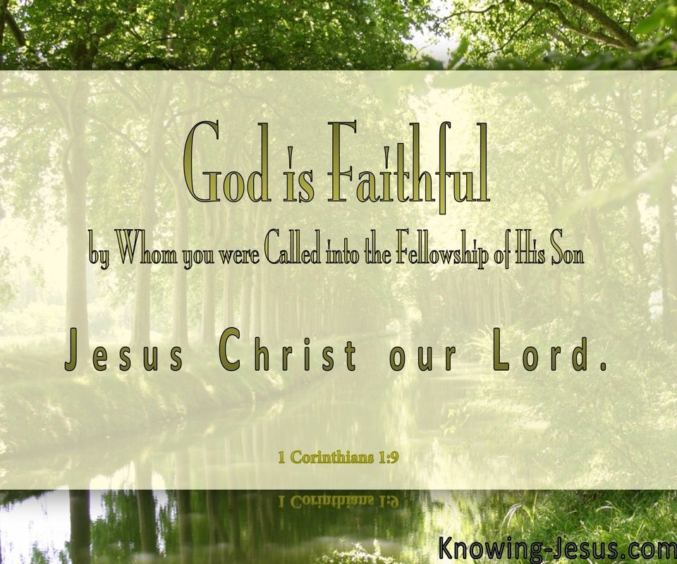 1 Corinthians 1:9 God Is Faithful (sage)