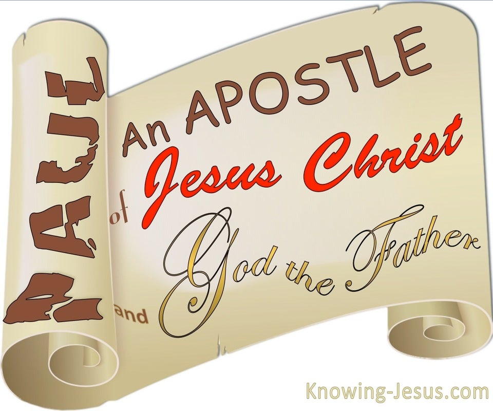 Galatians 1:1 Paul An Apostle (white)