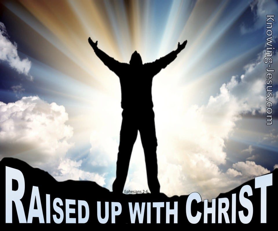 Ephesians 2:6 Raised Up With Christ (black)