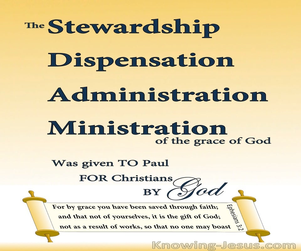 Ephesians 3:2 The Stewardship Of Gods Grace (cream)