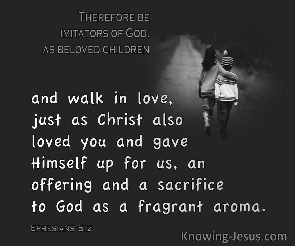 Ephesians 5:2 Walk In Love As Christ Also Love You (gray)
