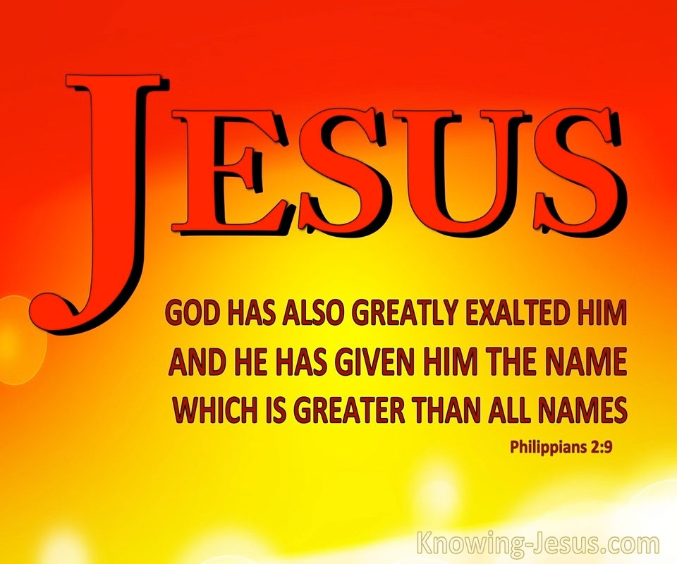 Philippians 2:9 JESUS : The Name Above All Names (yellow)