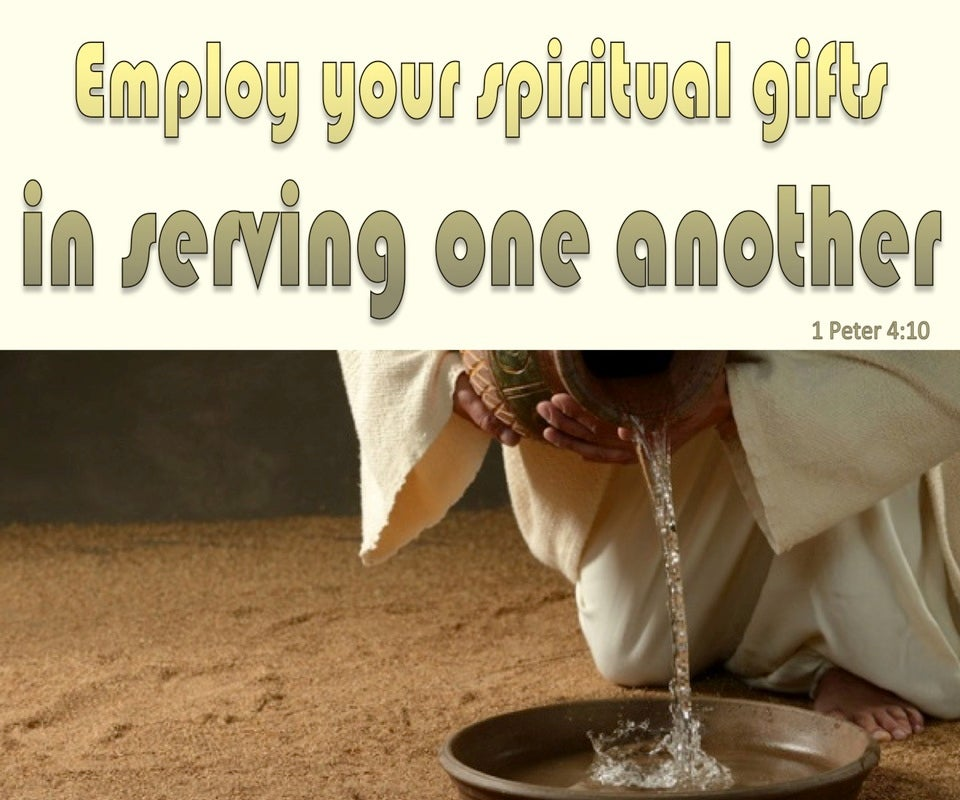 1 Peter 4:10 Use Spiritual Gifts To Serve (white)