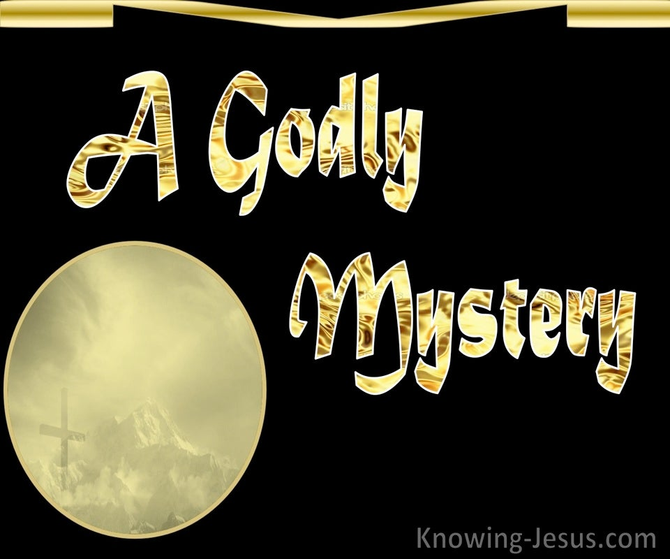 A Godly Mystery (devotional)10-18 (gold)