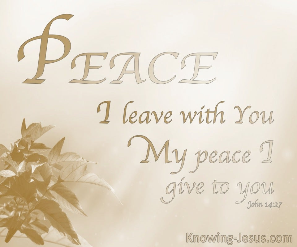Perfect Peace (devotional) - John 14:27