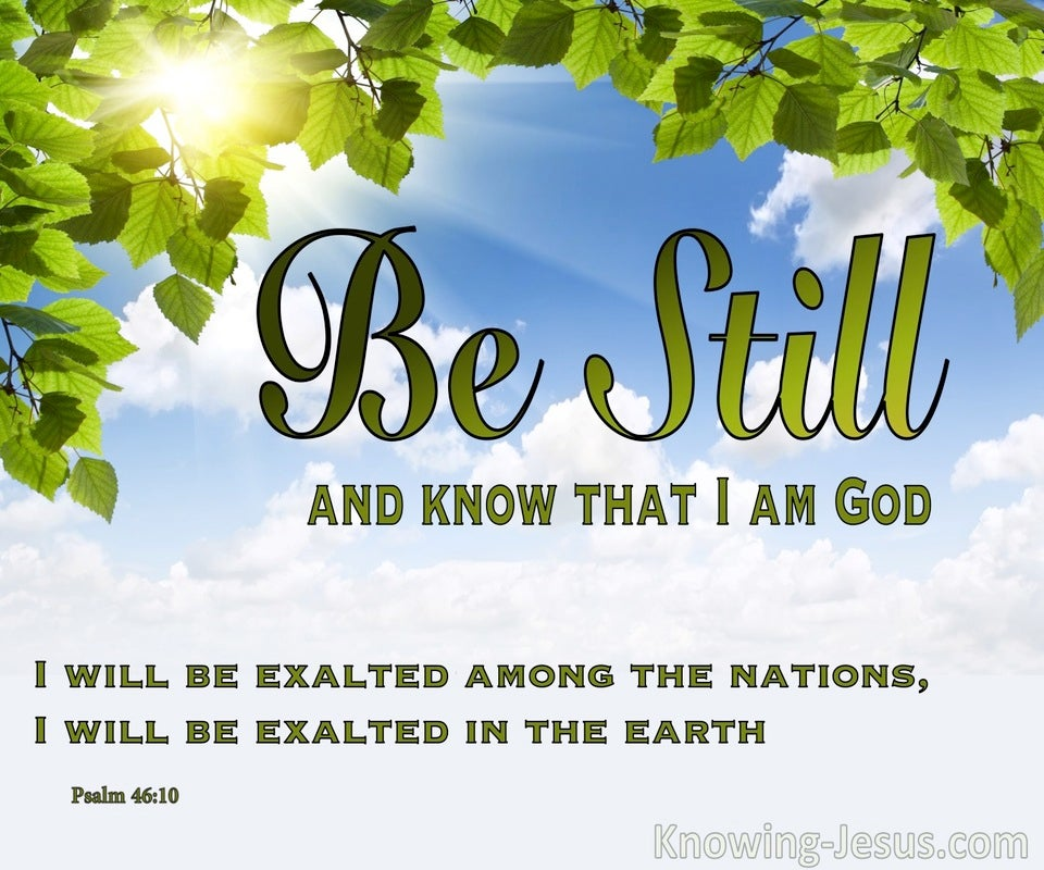 Stand Still - Sit Still - Be Still (devotional)  (green) - Psalm 46:10