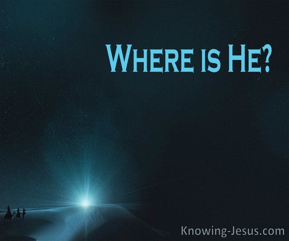 Mathew 2:2 Where is He (devotional)07-11 (blue)