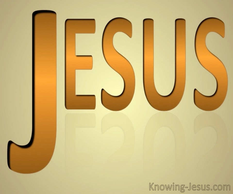 JESUS - His Name (orange)