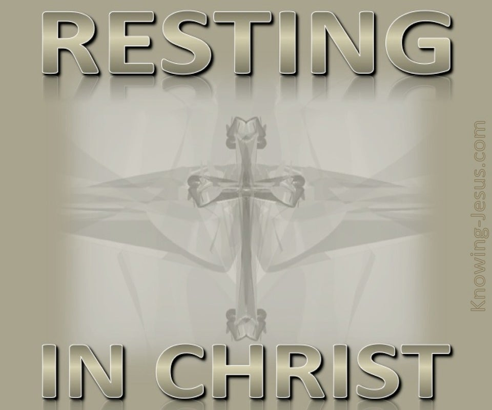 Resting In Him (devotional) (gray)