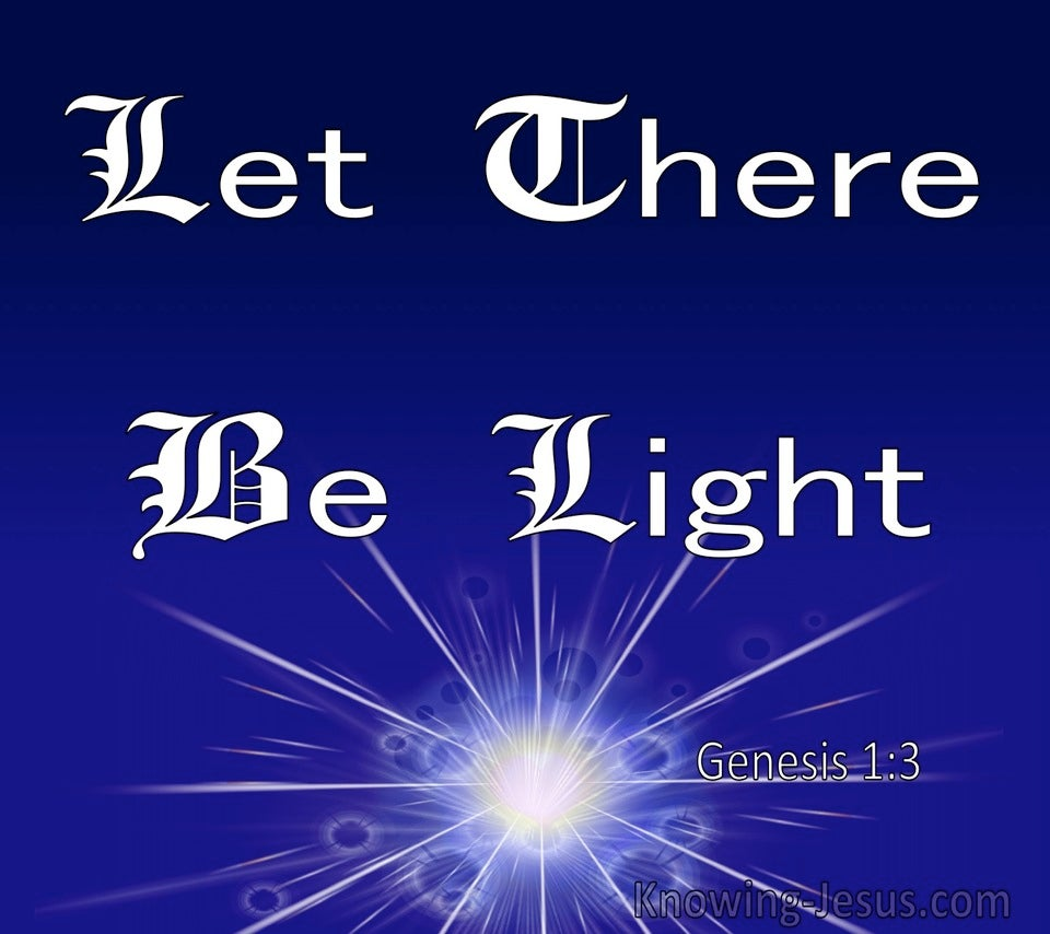 Genesis 1:3 God Said Let There Be Light (blue) copy