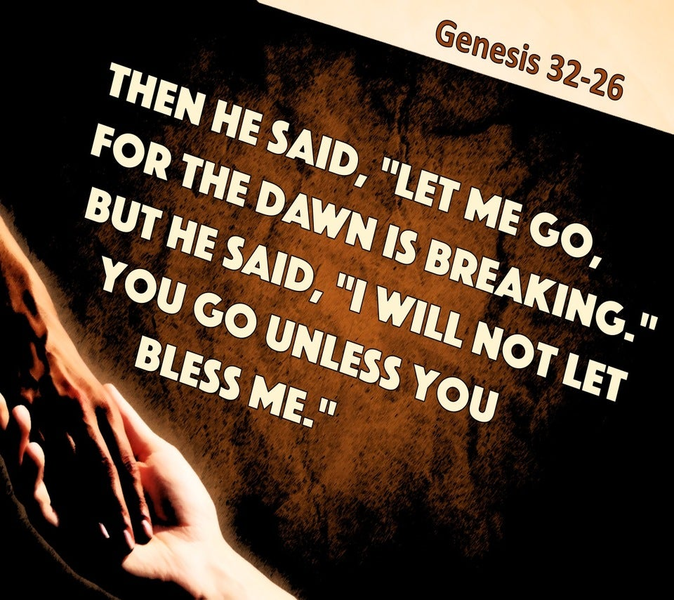 Genesis 32:26 I Will Not Let You Go (black)