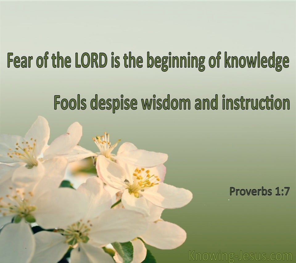 Proverbs 1:7 The Fear Of The Lord (green)