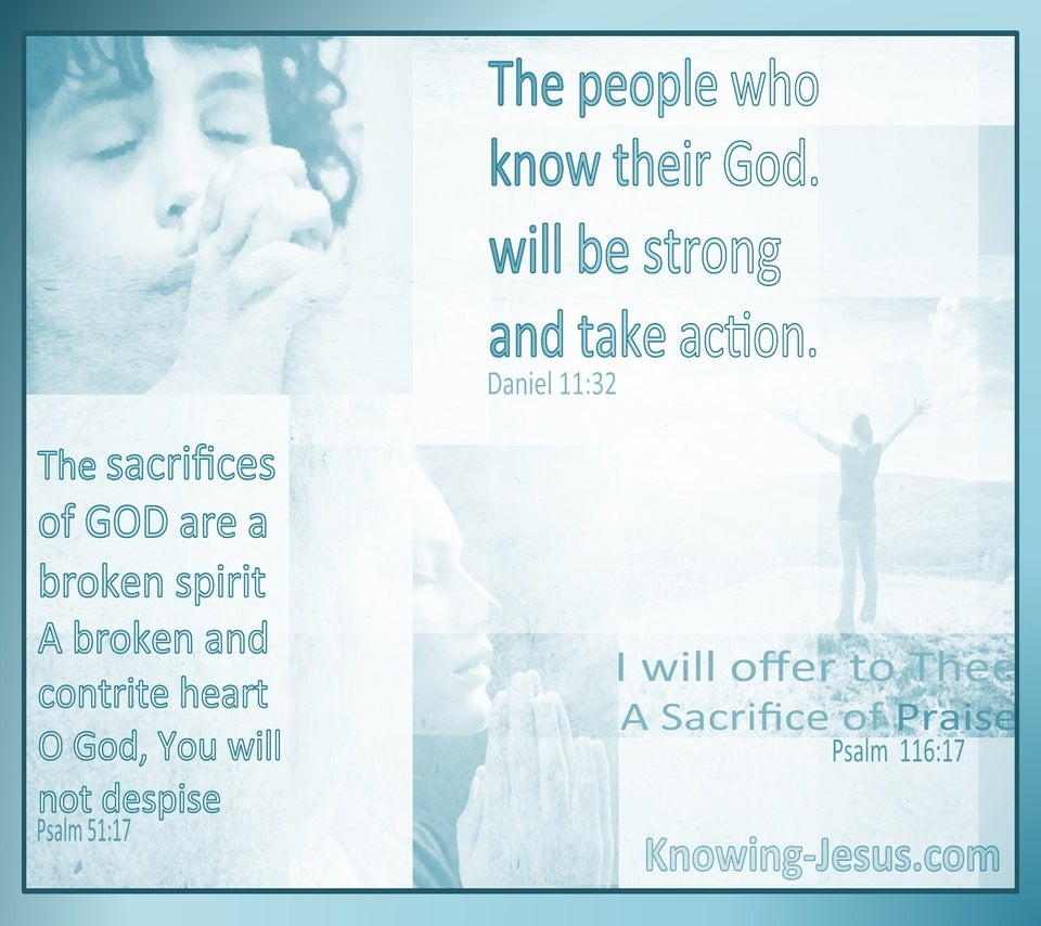 Psalm 116:17 I Will Offer A Sacrifice Of Praise (aqua) (aqua)