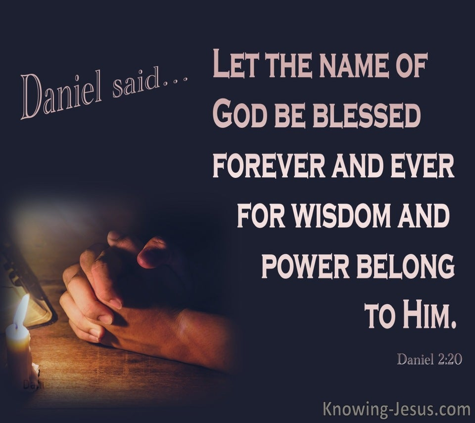 Daniel 2:20 Let The Name Of God Be Blessed Forever (pink)