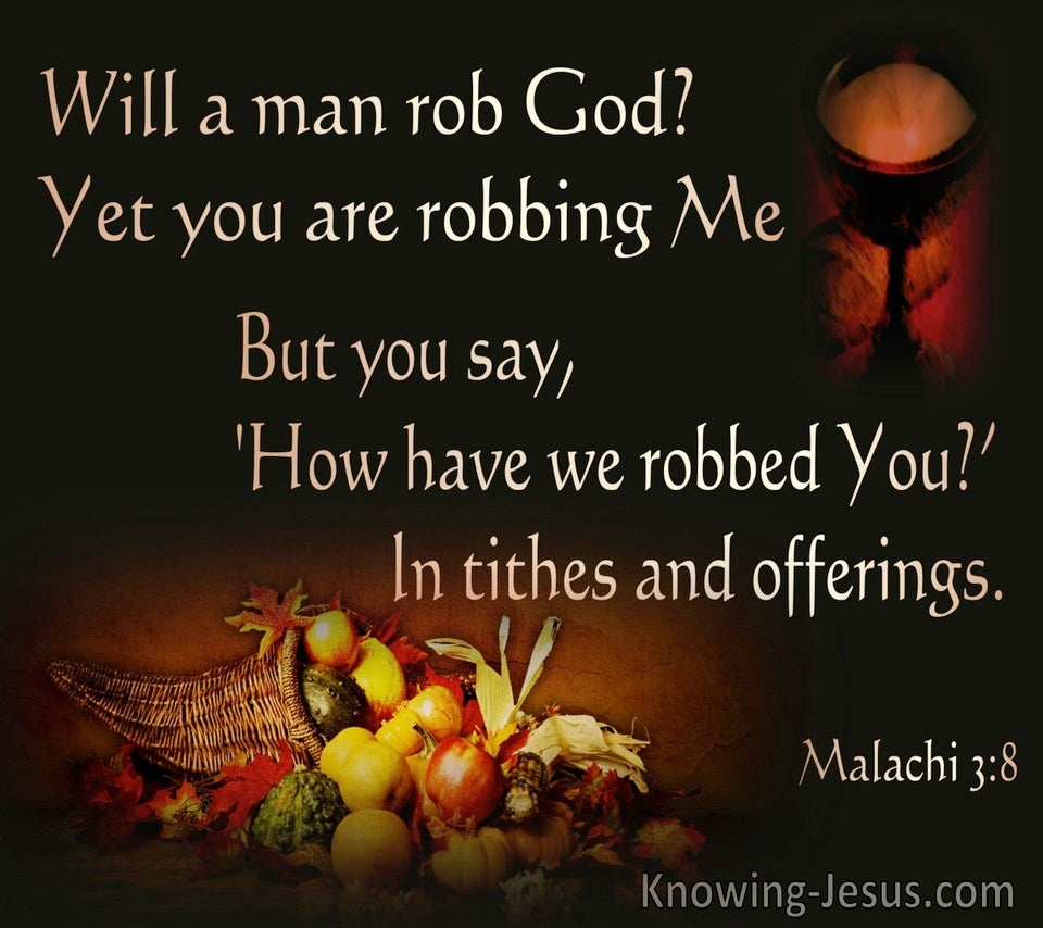 Malachi 3:8  WIll A Man Rob God (brown)
