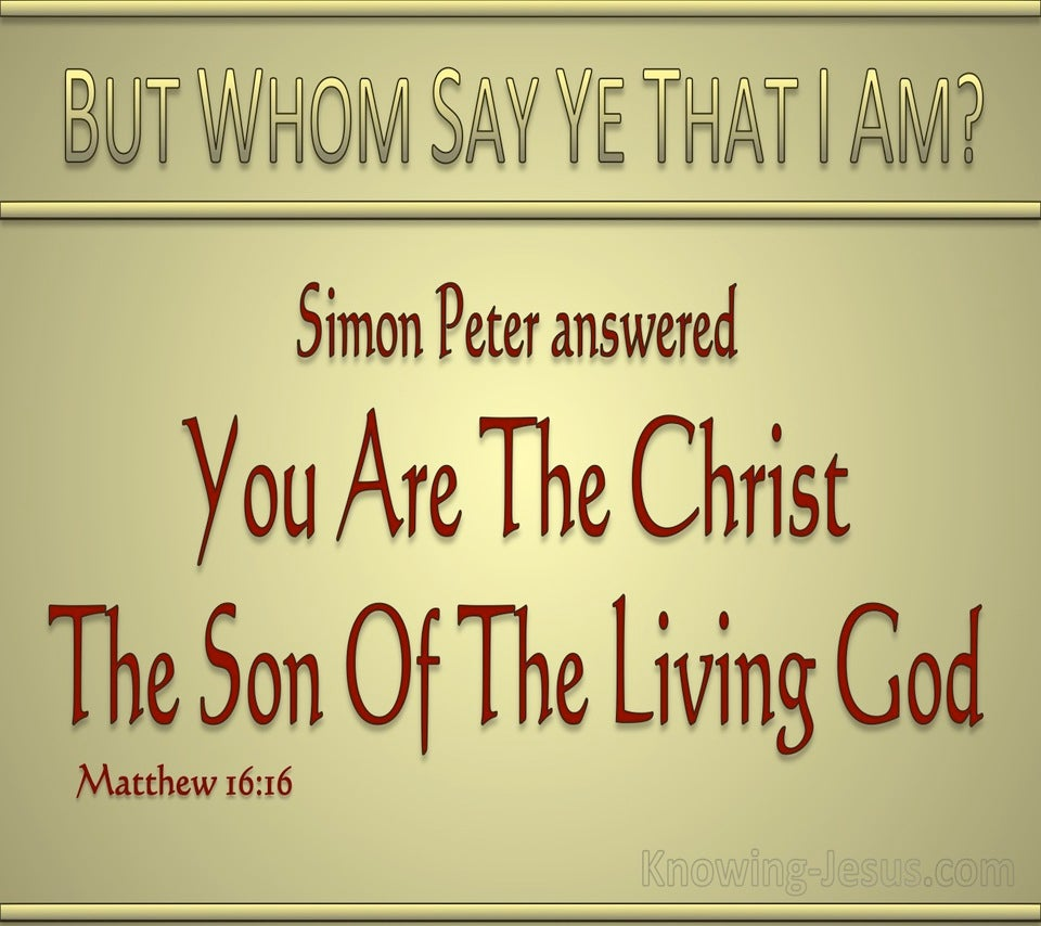 Matthew 16:16 You Are The Christ (gold)