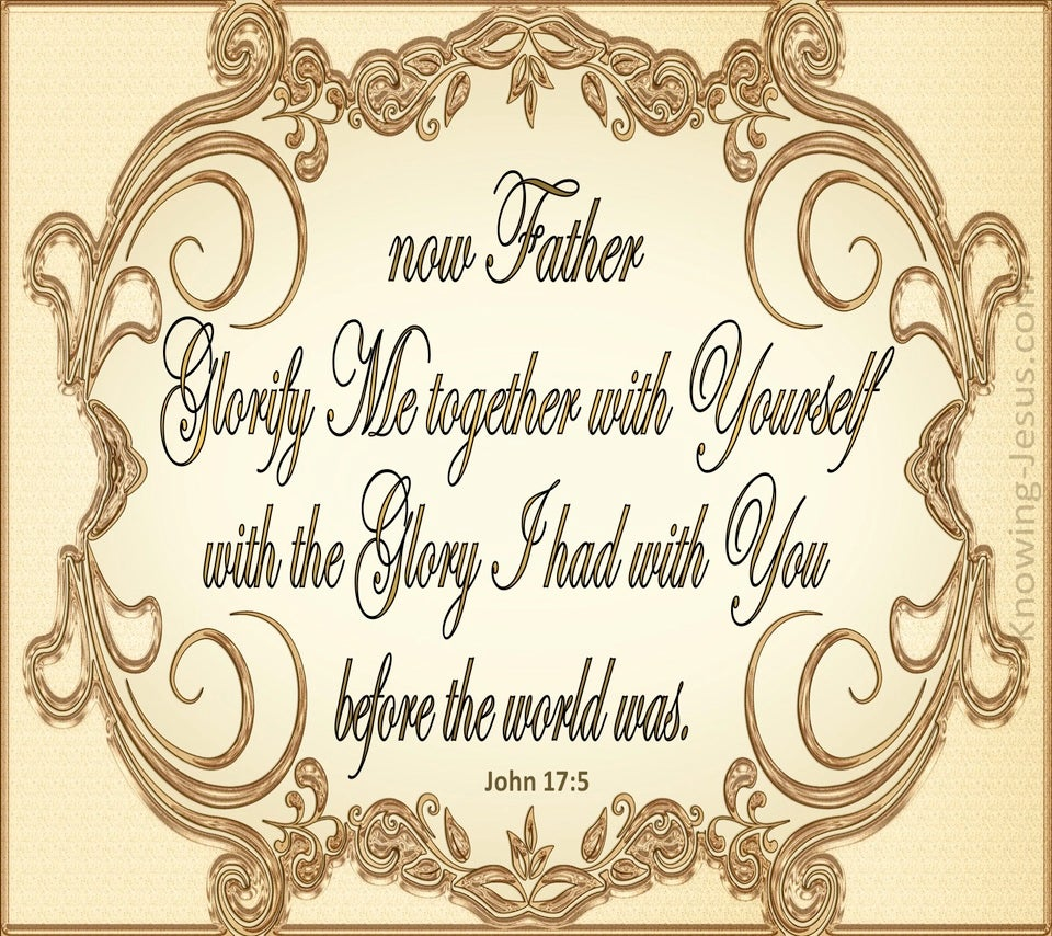 John 17:5 Glorify Me Together With Yourself (gold)
