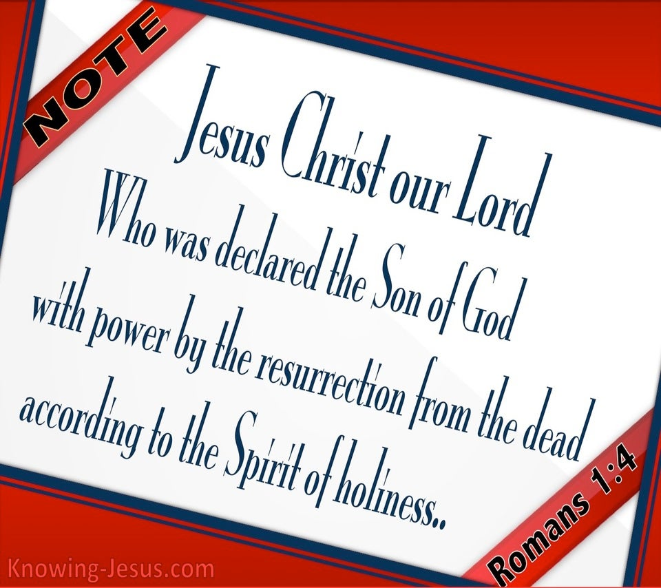 Romans 1:4 Resurrected Son Of God (red)
