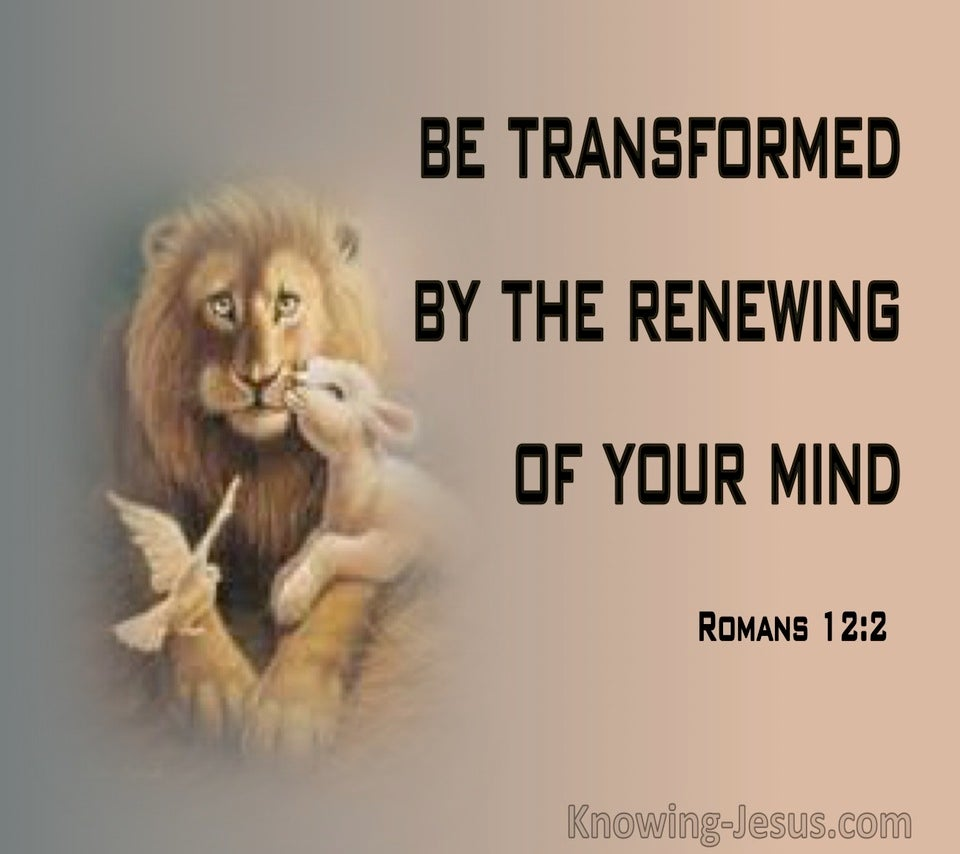Romans 12:2 Transformed By The Renewing Of Your Mind (brown)