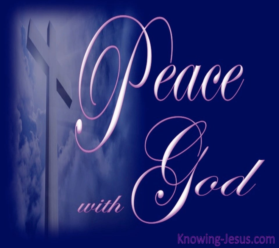 Romans 5:1 Peace With God (blue)