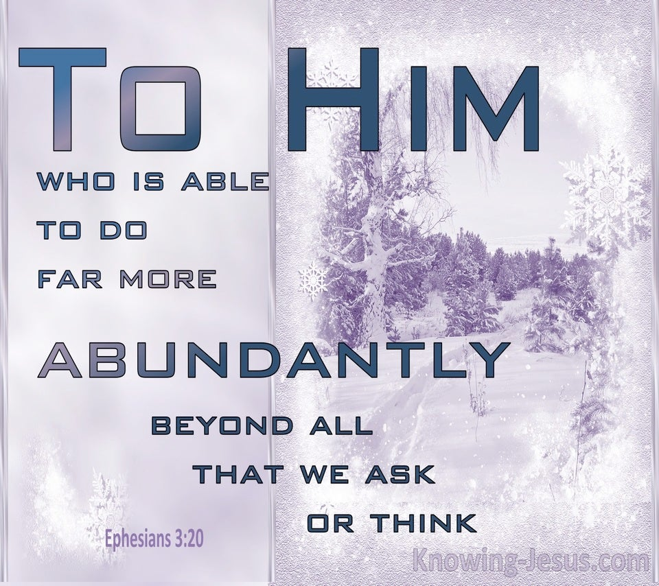 Ephesians 3:20 Him Who is Able (purple)