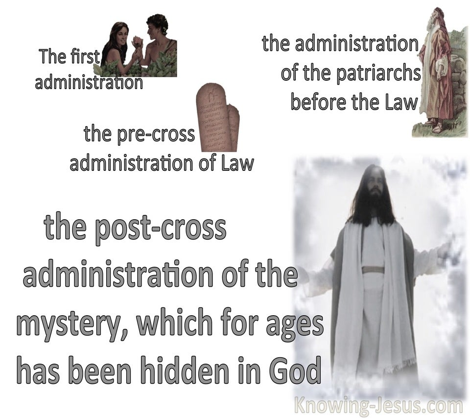 Ephesians 3:9 Administration Of The Mystery (white)