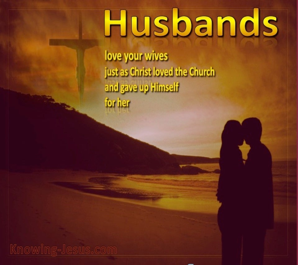 Ephesians 5:25 Husbands Love Your Wives (gold)
