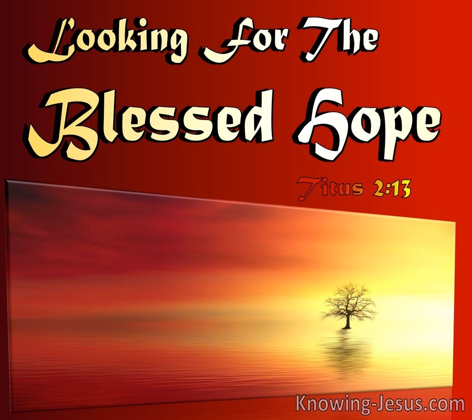 Titus 2:13 Looking For The Blessed Hope (maroon)