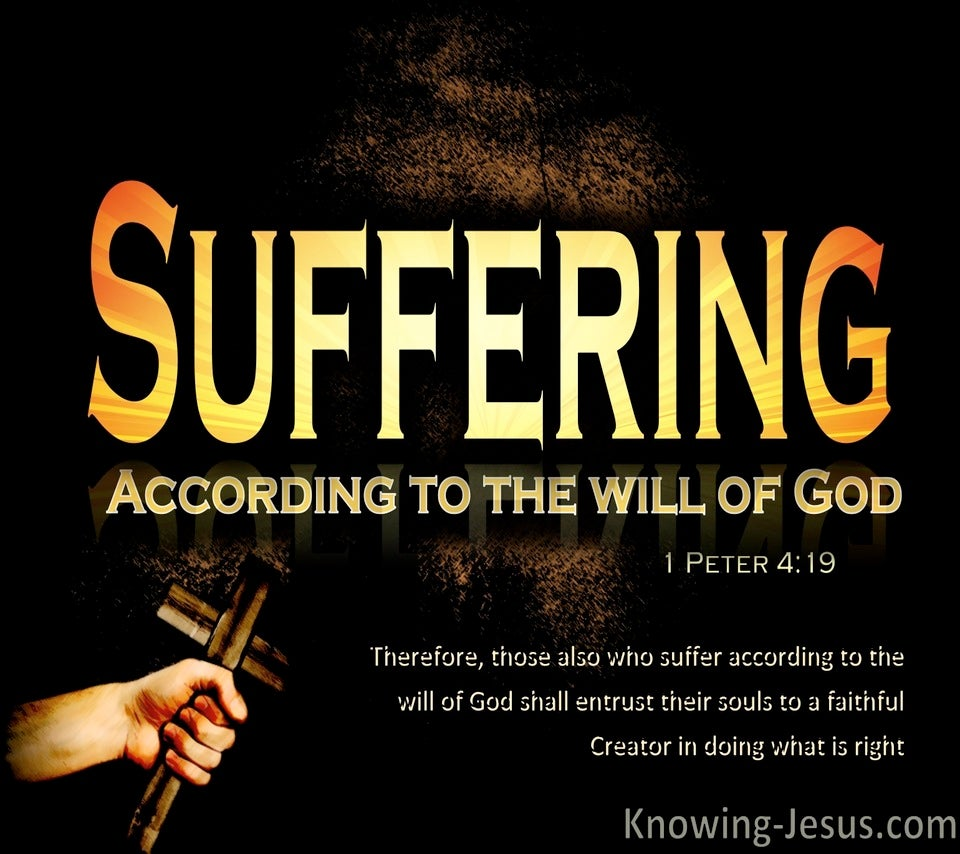 1 Peter 4:19 You Who Suffer Entrust Your Soul To God (orange)