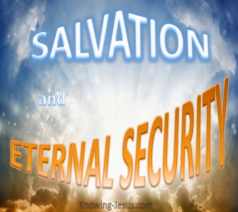 SALVATION - And Eternal Security (blue)