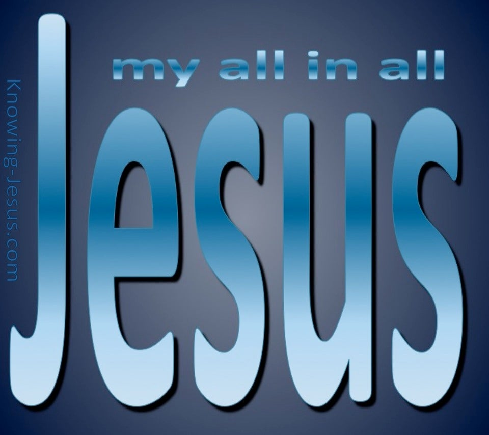 JESUS - My All In All (blue)